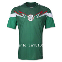 Free Shipping 2014 World Cup New Mexico soccer jersey Top Thailand Quality football shirt Uniform