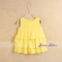 2014 summer female child skirt child baby chiffon layered dress princess dress tank dress doll dress