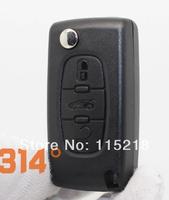 Free Shipping 3 button Peugeot 307 308 407 408 folding key case / Citroen C3 C4 C5 3 button folding remote key shell key case