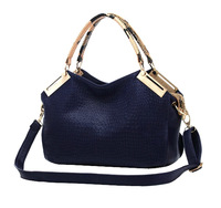 Free shipping ! Wholesale! The new 2014 crocodile grain leather channel cowhide women handbag, shoulder bag, messenger bag-wj