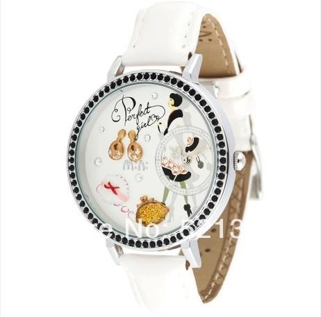 White Perfect Girl Polymer Clay Mini Watch Ladies Women Girls Quartz Analog Wrist Watches, Best Buy!(China (Mainland))