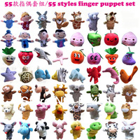 new  2014 Baby plush toy,Fairy tale finger puppet,55 style finger puppets/hand puppets Finger Toy Doll learning & education toy