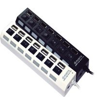 High Speed 7-Port 7 Port USB HUB ON/OFF Sharing Switch For Laptop PC Notebook Computer, Black White Available