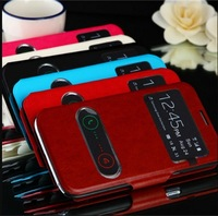 For Samsung galaxy Note 2 II N7100 N7108 Leather case S - View window flip cover Phone case