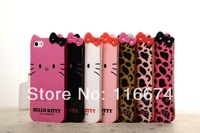 Hot Sales Unique Hello Kitty Style Silicon Cover Case For iPhone 5 5s With Screen Film Free Gift!!