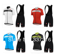New Hot 2014 CASTELLI Team Cycling Jersey Short Sleeve and bicicleta bib  Shorts maillot ciclismo clothing set (7 colors) !!