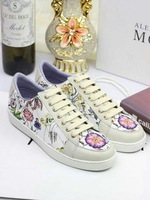 New fashion 2014 g real leather print low skateboarding shoes elegant brand women's shoes free shipping