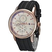 Laogeshi Luxury man 5 hands Auto Mechanical wristwatch, Dual Minute hands, Month, week, date display Men's gold case Wrist Watch