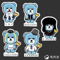 Bigbang bear sticker laptop sticker trolley luggage bags