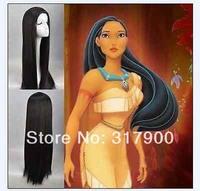 Movie Pocahontas Long Straight Black Cosplay wig