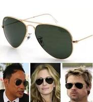 Wholesale glass lenses fashion male / female sunglasses driving glasses big star glasses free shipping