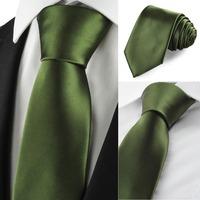 New  2014 Solid Militery Green Men Tie Suit Necktie Formal Wedding Holiday Giftt   368