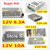 DC 12V 1A /2A/ 3.2A /5A/ 8.3A/ 10A LED switching power supply AC 100-240V for 3528 5050 led strips free shipping