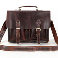 Men messenger bags, Cowhide Leather bags, Briefcase, Handbag / Handbags, Portfolio, Spring 2014, Zipper, Genuine leather, 0344