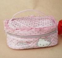 ( Pink ) Hello Kitty elegant makeup bag pocket money bag multifunction
