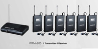new In Ear Professional Stage Wireless Monitor System 1 Transmitter 6 Receiver