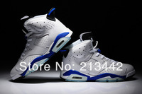 2014 new j6 sport blue basketball shoes - colorway: White/Sport Blue-Black - style code:384664-107 size: us8 - us13