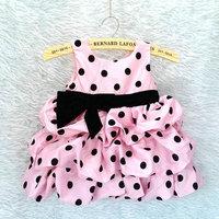 Wholesale 6pcs/lot girl dress children clothing baby polka dot dress girl princess dress for birthday party free shipping