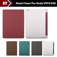 Free Shipping Special Leather Case Smart Case For Onda V975 V975S V975M Tablet PC Multi Color High Quality Nice Teblet Case