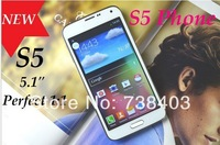 New 1:1 Star S5 G9008 5.1 inch 3G android 4.4 MTK6572 WCDMA GPS 8MP Smart Phone Micro SIM Single Card Gift