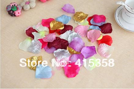 1000 pcs 15 colors artificial flower Silk Petals Wedding Flowers Decor party decorations(China (Mainland))