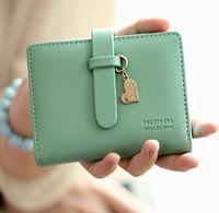 New Short love female women coin wallets purses clutch brand designer carteiras femininas couro de marca mujer free shipping 50