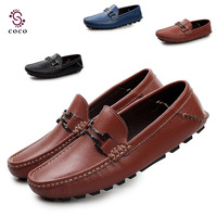 2014 New Best quality Soft Loafers Genuine Leather men flats casual shoes Comfortable Driving Shoes Classical men Sneakers