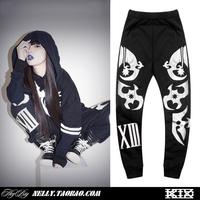 Fashion cross ktz reflective hiphop sports pants casual trousers harem pants