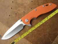 FAST FREE SHIPPING New Hinderer XM-18 Orange G-10 Handle Pocket Folding Orange-FXM18 Knife