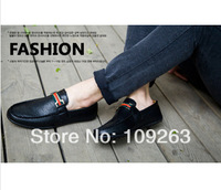 mens leisure business brand leather shoes fashion casual breathable falts Europe style boat shoe 3 color  Free shipping #10085