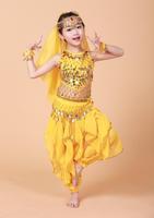 Spring New 2014 Girl Belly Dance Hip Belt Kids Bellydance Costume Paillette Chain Children Dancing Accessories Free Shipping CF