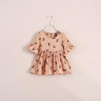 wholesale two -color bow Qunshan children's clothing 6pcs/lot t040622