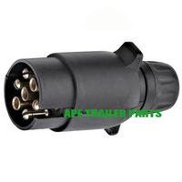 7 Pin Trailer Round Adapter Plug
