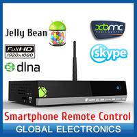 Bluetimes MX5 dual core android TV boxes tv channels internet tv box XBMC media player center smartphone remote control