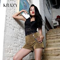 Krazy 2013 fashion vintage metal zipper cool jincong high waist shorts no . 571
