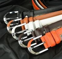New arrival!hot sale 1pcs/lot Fashion brand designs Men 100% Genuine Leather leather belt,unisex pin buckle Fashion belts