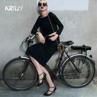 Krazy 2014 small rivet 100% cotton sweatshirt set female short design top full dress 6186
