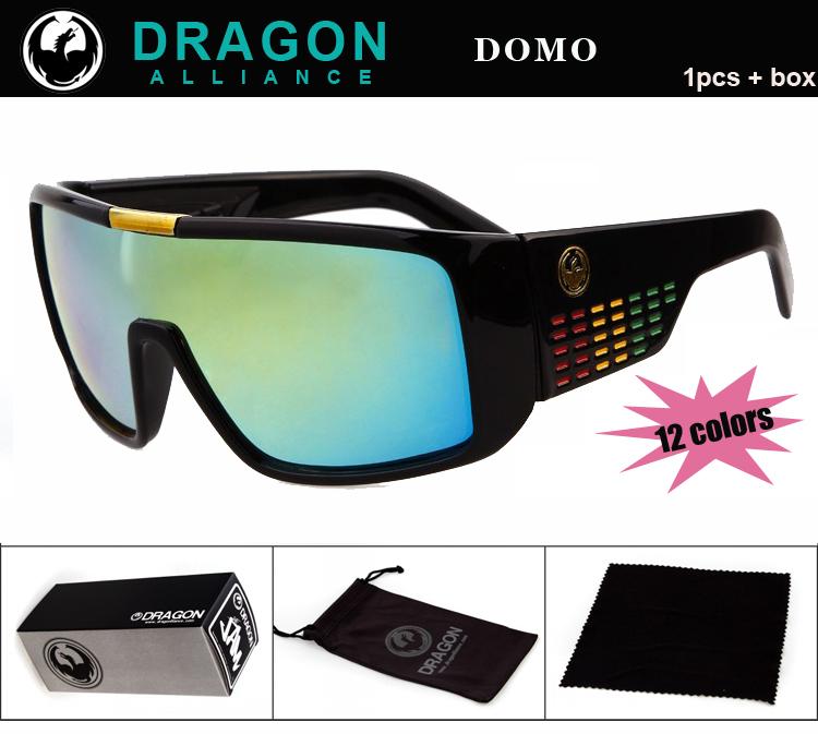 Electronic 2014 New Dragon Domo Sunglasses Men Brand Coating Glasses Women oculos de sol Cycling Eyewear with Box(China (Mainland))