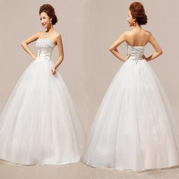 Без бретелек форме сердца с бриллиантами Полное длиной макси верхней части пробки свадебное платье свадебное платье Бесплатная доставка