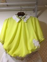 Exquisite chiffon top beading chiffon lace shirt crochet turn-down collar chiffon shirt female