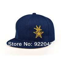 Europe and the United States baseball hat crown star embroidery stitching flat brim cap cap tide hip-hop