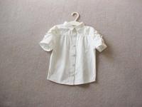 free shipping CS4045 Girls short  sleeve  summer white blouse bow