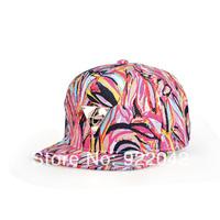 The new spring and summer baseball hat letter triangular mark and Korean graffiti color flat brim hip-hop cap