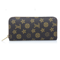 FREE SHIPPING 1PCS Fashion Design PU Leather Wallet Zip Purse Clutch #24495