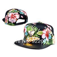 2014 Korean tide and baseball hat color flowers snakeskin stria triangle flat brim hip-hop cap