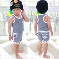 Free shipping for new arrival children striped suit for 4 PCS/lot