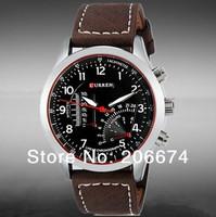 NEW CURREN Men's Quartz Analog Watch #8152(white.black,brown)Wristwatches+free shipping