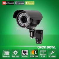 "78 IR 1/3"" 1200TVL CMOS SONY IMX138 Sensor Waterproof CCTV Security Camera With IR-Cut Varifocal 2.8-12mm Lens OSD Menu"