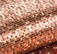 Luxury  Red &Gold Foil Mosaic Background Flicker Wall Paper Modern Roll Hotel Ceiling Decorative Wallpaper pvc waterproof