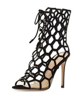 New Fashion women shoes black suede genuine leather cut outs summer bootie gladiator boots with high heel designer pumps